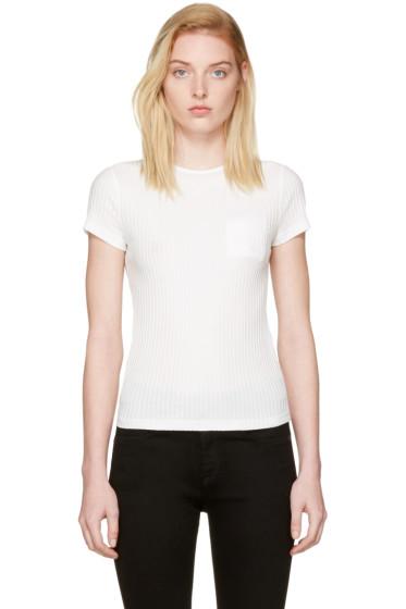Helmut Lang - White Rib T-Shirt