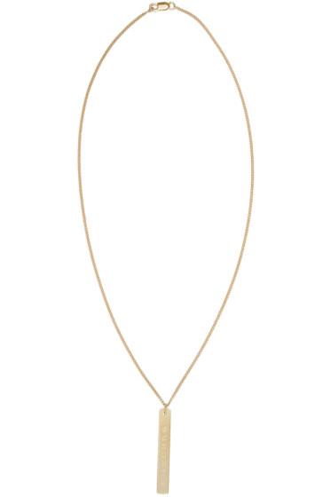 Maison Margiela - Gold Logo Necklace