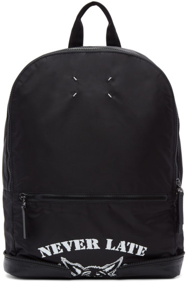 Maison Margiela - Black Nylon 'Never Late' Backpack