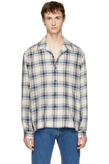 Maison Margiela - Navy & Beige Plaid Shirt