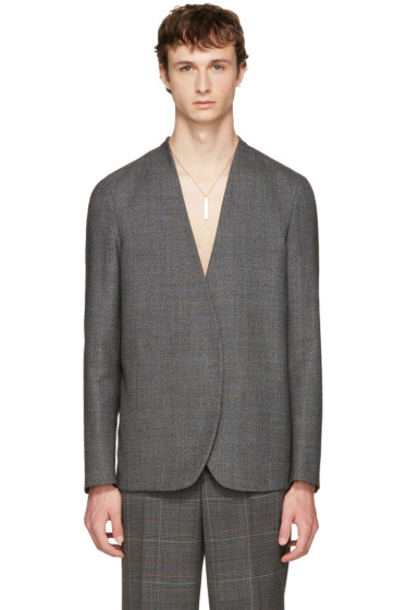 Maison Margiela - Grey No Lapel Blazer