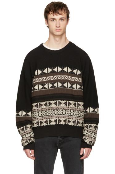 Maison Margiela - Black Fair Isle Sweater