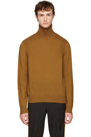 Maison Margiela - Tan Wool Turtleneck