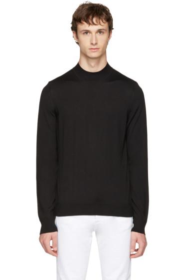 Maison Margiela - Black Mock Neck Sweater