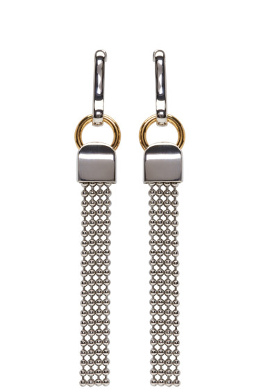 Alexander Wang - Silver Ball Chain Earrings