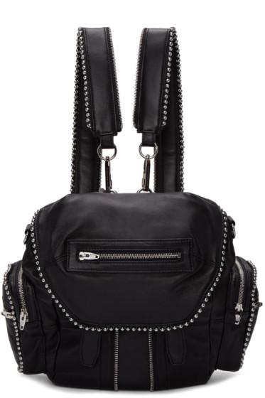 Alexander Wang - Black Mini Ball Stud Marti Backpack