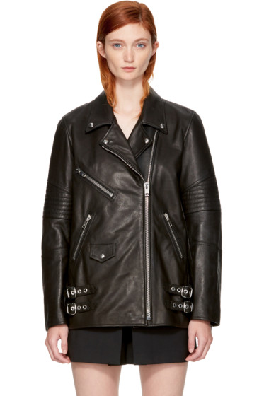 Alexander Wang - Black Leather Classic Biker Jacket