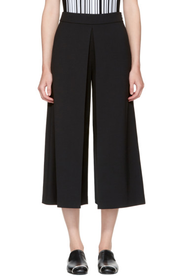 Alexander Wang - Black High-Waisted Fold Front Culottes