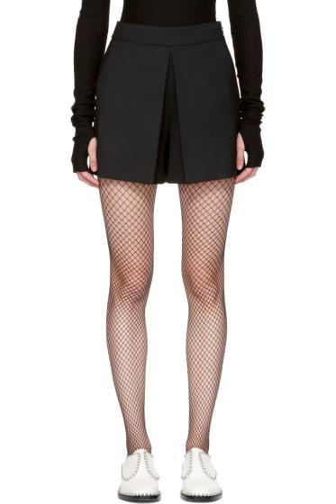 Alexander Wang - Black Fold Front Shorts