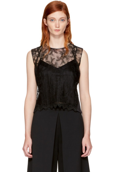 Alexander Wang - Black Lace Necklace Tank Top