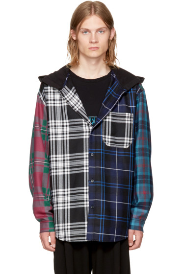 Alexander Wang - Multicolor Patchwork Hooded Overshirt