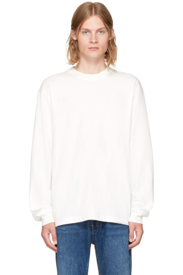 Alexander Wang - White High Twist Long Sleeve T-Shirt