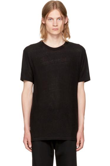 Alexander Wang - Black Slub Crewneck T-Shirt