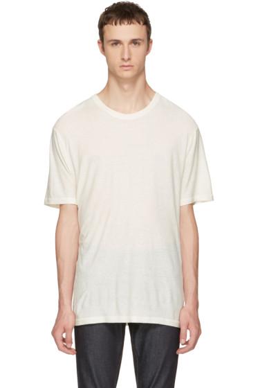 Alexander Wang - Ivory Silk Slub T-Shirt