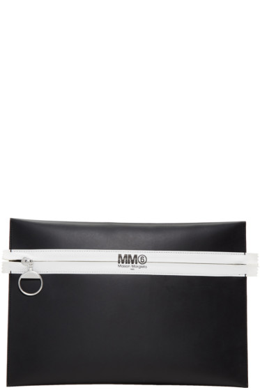 MM6 Maison Margiela - Black Plein Reclaimed Pouch