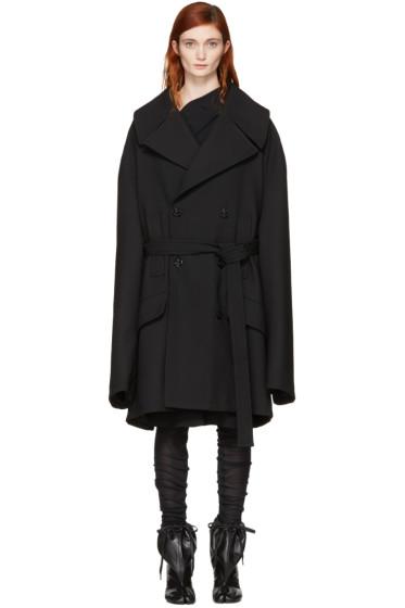 MM6 Maison Margiela - Black Oversized Wool Coat