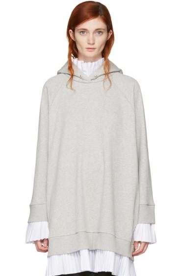 MM6 Maison Margiela - Grey Layered Hoodie Dress