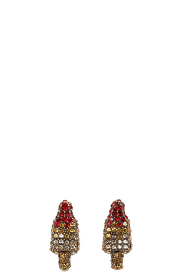 Marc Jacobs - Gold Poolside Rocket Pop Earrings