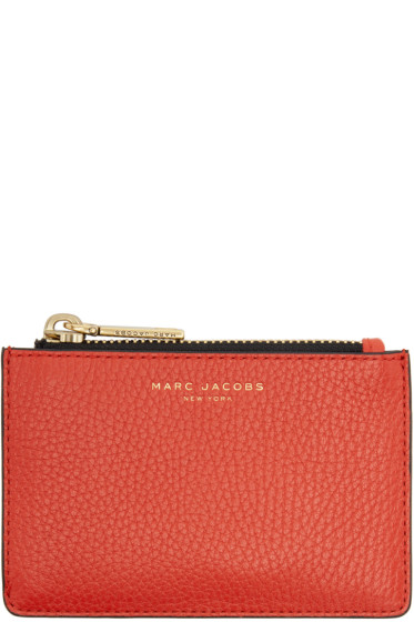 Marc Jacobs - Red Gotham Zip Card Holder