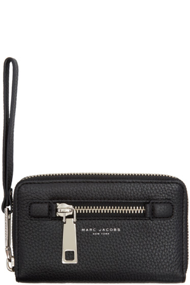 Marc Jacobs - Black Gotham Zip Phone Wallet