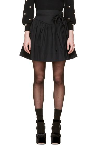 Marc Jacobs - Black Waist Tie Miniskirt