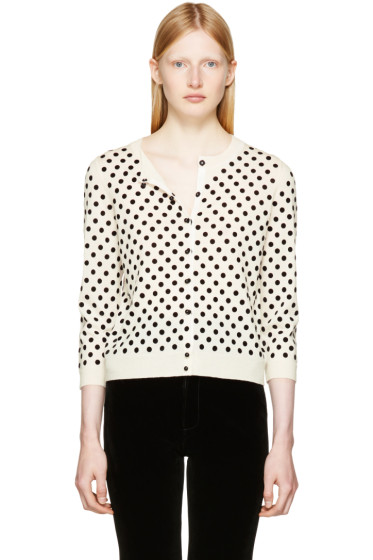 Marc Jacobs - Ivory Polka Dot Cardigan