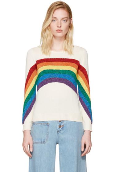 Marc Jacobs - Ivory Rainbow Sweater
