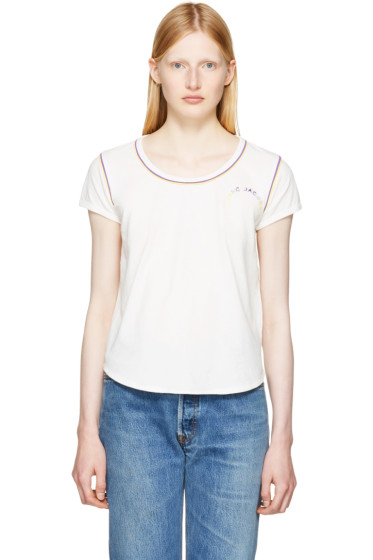 Marc Jacobs - Ivory 70s Cap Sleeve T-Shirt
