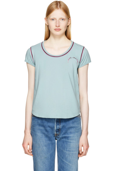 Marc Jacobs - Blue 70s Cap Sleeve T-Shirt