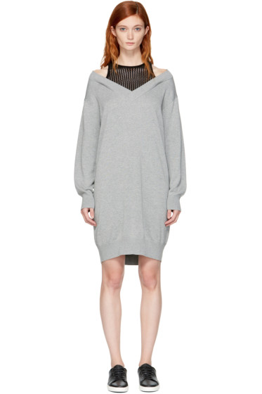 T by Alexander Wang - Grey & Black Layered Dress