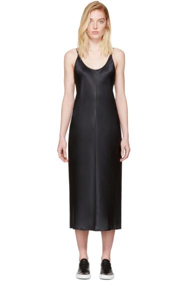 T by Alexander Wang - Black Silk Charmeuse Cami Dress