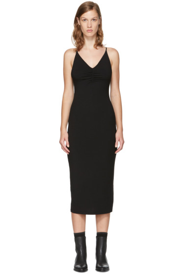 T by Alexander Wang - Black Shirred Cami Dress
