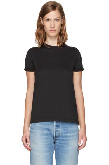 T by Alexander Wang - Black Superfine Jersey Crewneck T-Shirt