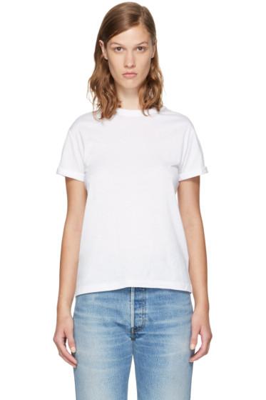 T by Alexander Wang - White Superfine Jersey Crewneck T-Shirt