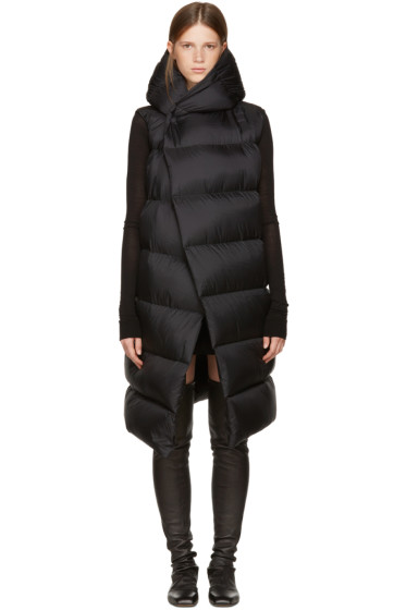 Rick Owens - Black Sleeveless Down Liner Jacket