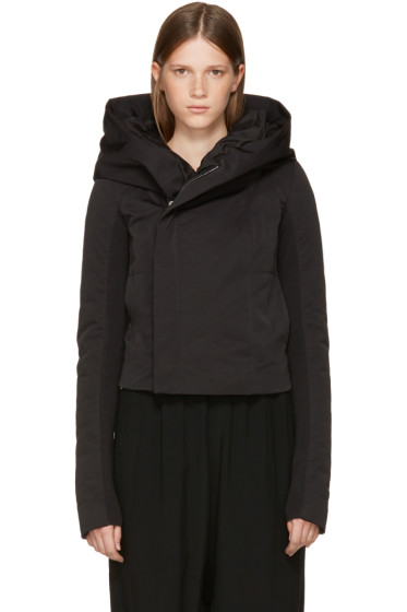Rick Owens - Black Down Hooded Biker Jacket