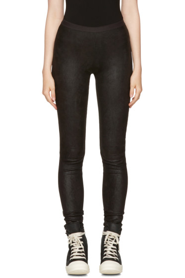Rick Owens - Black Leather Pants