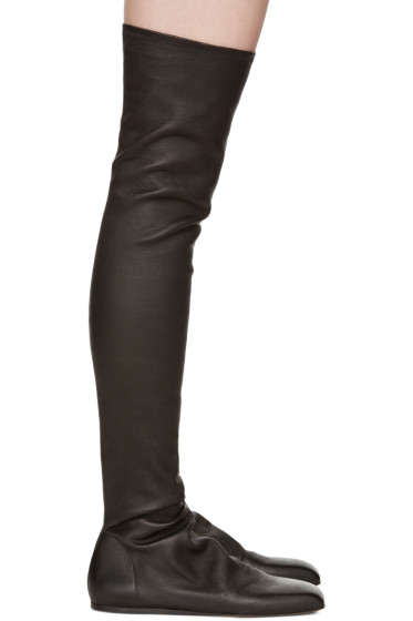 Rick Owens - Black Ballerina Over-the-Knee Boots