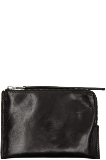 Rick Owens - Black Medium Zip Pouch