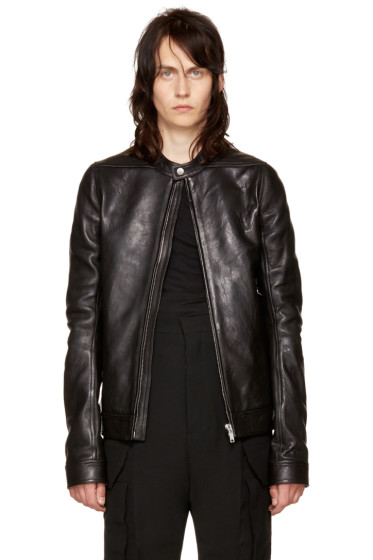 Rick Owens - Black Leather Rick's Jacket