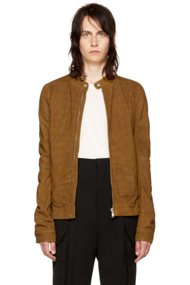 Rick Owens - Tan Leather Rick's Jacket