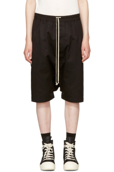 Rick Owens - Black Double Twist Rick's Pods Shorts