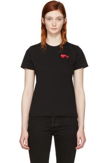 Comme des Garçons Play - Black Double Heart T-Shirt