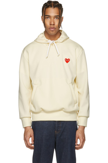 Comme des Garçons Play - Off-White Heart Patch Hoodie