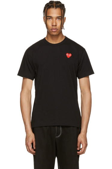 Comme des Garçons Play - Black & Red Heart Patch T-Shirt