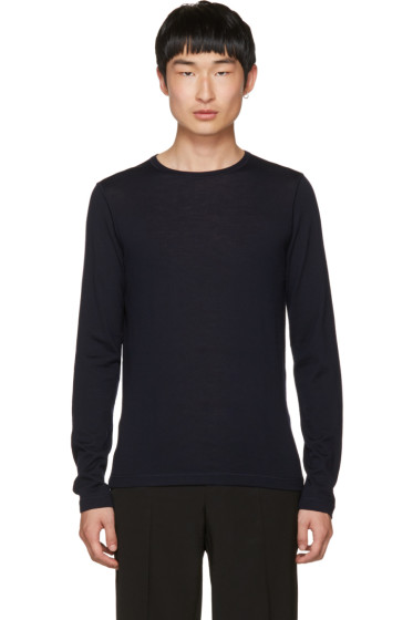Jil Sander - Navy Wool Crewneck Sweater