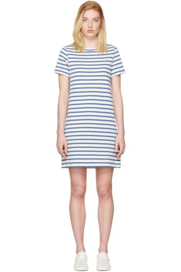 A.P.C. - Blue Striped Becky Dress