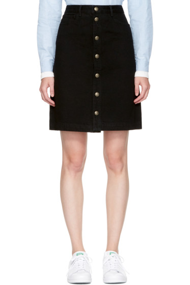 A.P.C. - Black Therese Miniskirt
