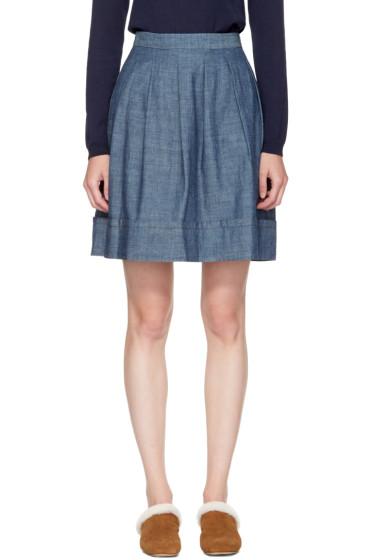 A.P.C. - Indigo Umbrella Miniskirt