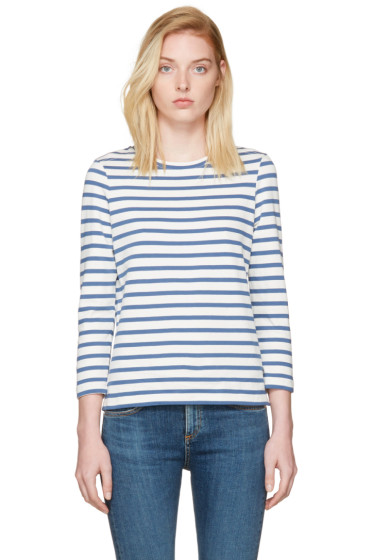 A.P.C. - Blue Striped Dream T-Shirt